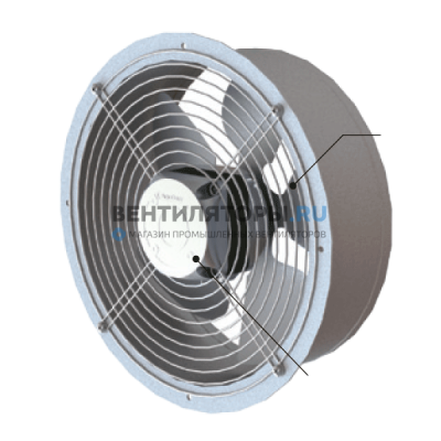 Вентилятор осевой ВО-Ф-3,15