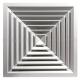 Потолочные диффузоры прямоугольные типа YAR 011