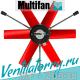 Tube mounting fan