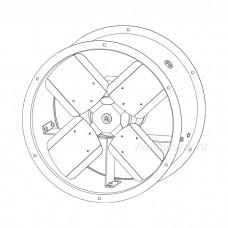 Вентилятор осевой реверсивный ОВР-3,15-А120/4D