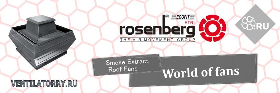 Крышные дымоудаляющие вентиляторы Rosenberg Smoke Extract Roof Fans with vertical outlet, DVWB