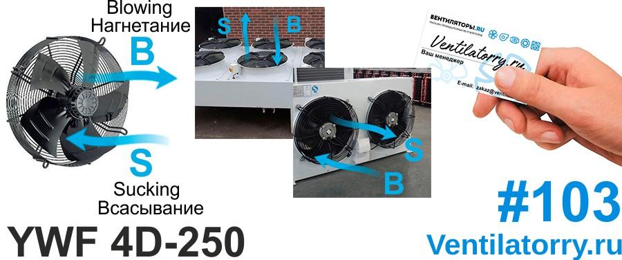 Вентилятор YWF-4D-250 Axial Fan